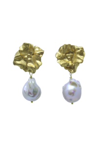 Joanna Bloom and Pearl Earrings Gold
