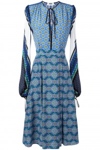 Printed Silk and Lace Dress