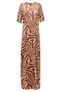 Tannin Silk Satin Maxi Dress