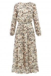 Isabel Dress Cream Jungle