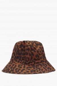 Toffee Leopard Bucket Hat