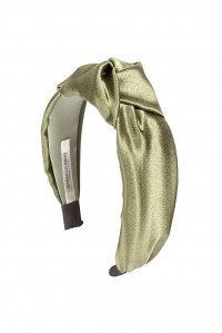 Samaya Headband in Hammered Silk Olive