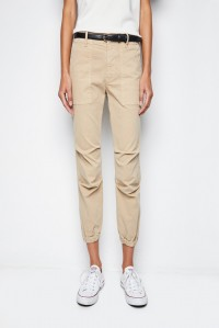 Cropped Military Pant Desert Sand