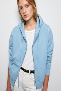 Callie Zip Up Hoodie Light Blue