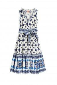 Evelin Dress Positano Blue