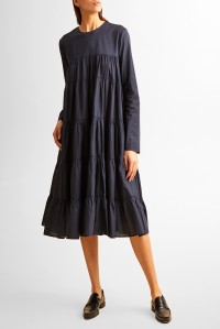 Essaouira Cotton Midi Dress Navy