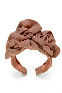 Triple Rosette Faille Headband Terracotta