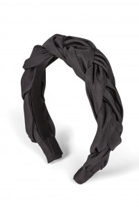 Lorelei Headband in Silk Faille Black
