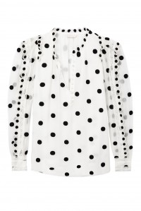 Long Sleeve Dot Embellished Top