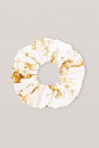 Crispy Cotton Horse Print Scrunchie