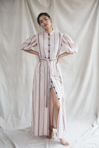 Ostara Dress Indian Rose Stripe