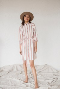 Artemis Dress Cream Stripe