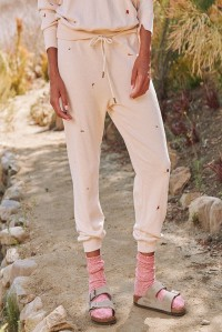 The Cropped Sweatpant Tossed Floral Whisper Pink
