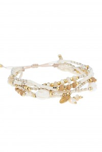 White Bone Multi Strand Bracelet