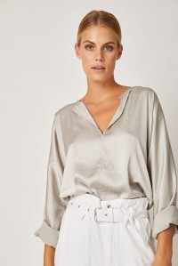 Blake Japanese Silk Top Stone