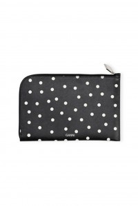Leather Pouch Sky Captain Polka Dot