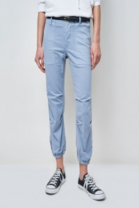 Cropped Military Pant Slate Blue