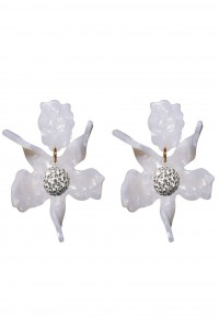 Crystal Lily Earrings Mother of Pearl
