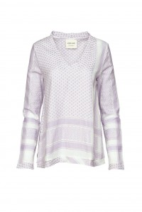 Shirt V Long Sleeve Lavender