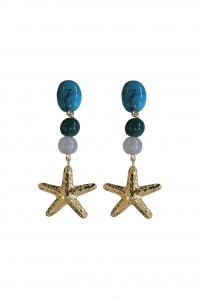 Dante Earrings Gold Multi Gem