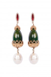 Medici Earrings Verde