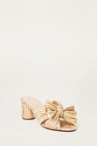 Emilia Pleated Mule Gold