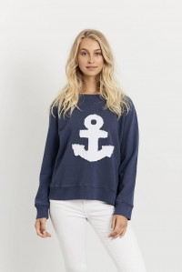 Frayed Anchor Windy Navy
