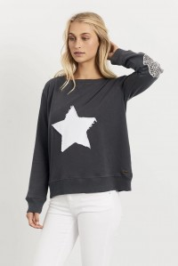 Leopard Star Windy Charcoal
