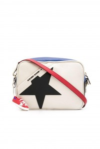 Star Bag Natural Royal Blue Red Leather