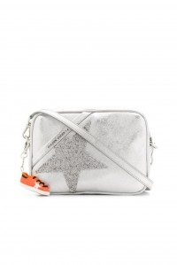 Star Bag Silver Leather Crystal Star