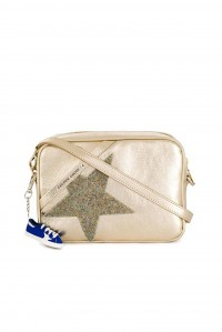 Star Bag Gold Leather with Crystal Star