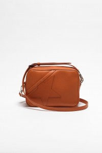 Star Bag Orange Grained Leather