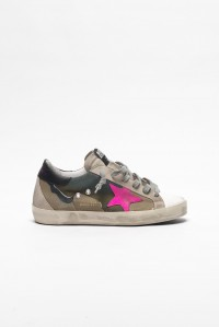 Sneakers Superstar Camo Canvas Fuxia Suede Star
