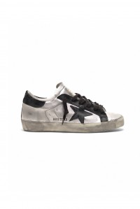 PRE-ORDER Sneakers Superstar Silver Black Leather