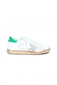 Superstar Sneaker White Gold and Green