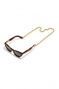 Gold Eyewear Chain Clip End