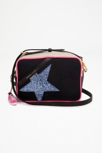 PRE-ORDER Star Bag Black and Fuxia with Glitter Star