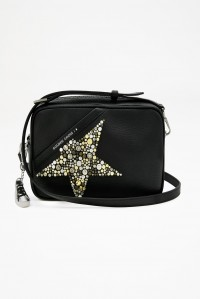 Star Bag Black Hammered Studs