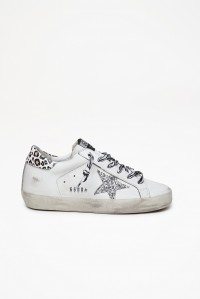 Superstar Sneakers White Silver Glitter Multi Leo