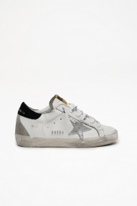 Superstar Sneakers White Silver Star Black