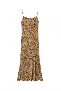 Holly Dress Gold Leopard