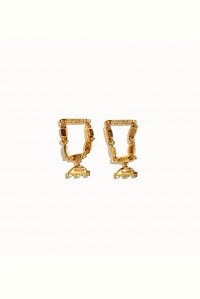 Silencio Earrings Yellow Gold Plate
