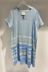 Dress 2 V Short Sleeve Sky