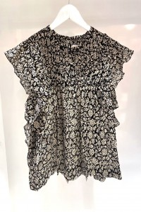 Layona Top Black Floral