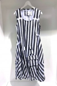 Stripe Pocket Dress Stone