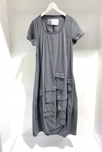 Short Sleeve Pocket Dress Stone