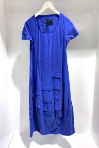 Short Sleeve Pocket Dress Cobalt