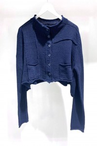 Cotton Cardigan Navy