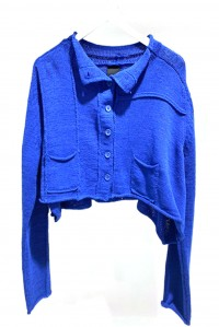 Cotton Cardigan Cobalt