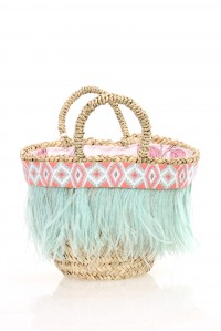 Triglifo Small Feathered Bag